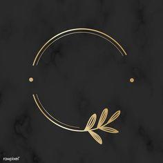 Round golden floral design logo vector premium image by wan Logo Floral, Floral Design, Logo Background, Textured Background, Logo Professionnel, Logo Boutique, Hight Light, Inspiration Logo Design, Design Tattoo
