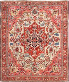 "Persian Heriz Serapi rug, 9' 10"" x 11' 7"", J.H. Minassian gallery"