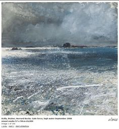 'SCILLY, BRYER, NORRAD ROCKS. GALE FORCE, HIGH WATER' (September 2008) | Kurt Jackson: From the 'Enesow' exhibition ✫ღ⊰n