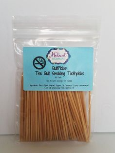 QuitPicks- The Stop Smoking Toothpicks- Made with essential oils of black pepper and cinnamon. Something for husband to try possibly Quit Smoking Motivation, Help Quit Smoking, Giving Up Smoking, Smoking Addiction, Nicotine Addiction, Benefits Of Quitting Smoking, Flavored Toothpicks, Stop Smoke, Health And Fitness