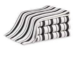 Williams Sonoma Classic Striped Towels, Set of Jet Black Kitchen Linens, Kitchen Towels, Kitchen Dishes, Test Kitchen, Kitchen Gadgets, Black Kitchens, Cool Kitchens, Striped Towels, Terry Towel