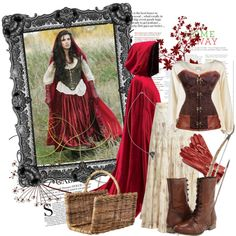 Ruby/Little Red Riding Hood costume by alittlebelle, via Polyvore