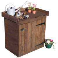 POT AND STORE space saver ideal gift for gardener, made from high quality wood, will be perfect in a shed or outdoors, built to last. great potting table and outdoor storage  For more information, and information on high Quality lawn edging, bamboo root barrier and more products contact Best4Garden.co.uk