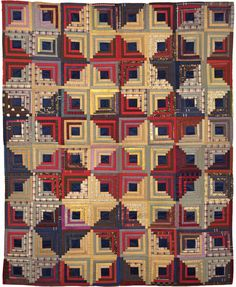 Log cabin Quilt, 1875-1900 One of the most popular American quilting pattern…