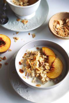 Spiced Peach Quinoa Porridge - a beautiful warm comforting breakfast