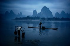 Bruno Barbey CHINA. Xingping, in Guilin. The Li river. 1980. Magnum Photos Photographer Portfolio
