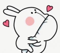 Cute Bunny Cartoon, Cute Kawaii Animals, Cute Cartoon Pictures, Cute Love Pictures, Cute Love Cartoons, Cute Bear Drawings, Cute Cartoon Drawings, Cartoon Jokes, Cute Love Gif