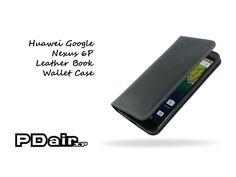 PDair Huawei Google Nexus 6P Leather Book Wallet Case