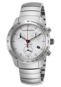 81% Off Porsche Design Men's Chronograph Stainless Steel White Dial Watch