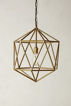 Euclidean Pendant #anthropologie. Retails for $248. Learn to make your own pendant lamp with easy DIY lamp tutorials at pinterest.com/ilikethatlamp