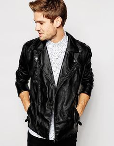 Selected Faux Leather Jacket
