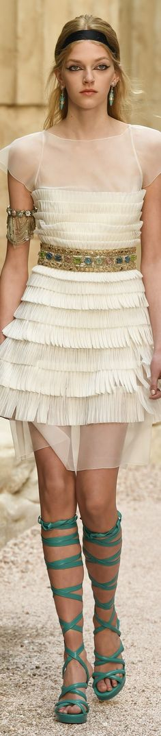 """Chanel Cruise 2018 at the Grand Palais in Paris, """"The Modernity of Antiquity"""" inspired by Greece."""