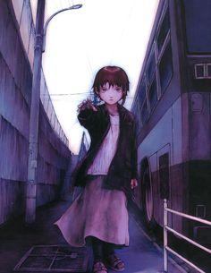 Serial Experiments Lain illustrations by Yoshitoshi ABe. Manga Art, Manga Anime, Anime Art, Vocaloid, Kaito, Akiba Kei, Cyberpunk, Serial Experiments Lain, Anime Rules