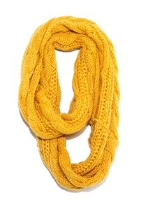 West Coast Wardrobe Cable Knit Infinity Scarf