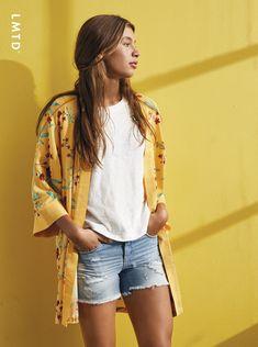 Kimono Top, Tops, Women, Fashion, Fashion Styles, Shell Tops, Fashion Illustrations, Trendy Fashion, Moda