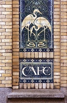 Art Nouveau tiles, Amsterdam