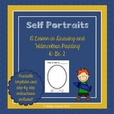 Self Portrait drawing and Watercolour Painting Lesson Elements Of Art Line, Self Portrait Drawing, Painting Lessons, Teacher Pay Teachers, Watercolour Painting, Education, Drawings, Sketch, Educational Illustrations