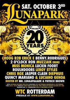 OCT 3RD 2015 | 20 YEARS #Lunapark WTC Rotterdam NL | www.lunapark.nl