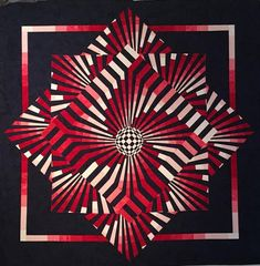 Fabric Kit for Spiral Motion by KwiltArt Designs - includes pattern Quilt Kits, Quilt Blocks, Optical Illusion Quilts, Bargello Quilts, Foundation Piecing, Knitted Blankets, Geometric Art, Pattern Books, Quilt Making