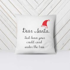 Dear Santa Christmas pillow Christmas decoration Holiday