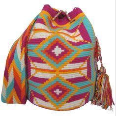 Cosmo Wayuu Mochila Bag $90.00 FREE SHIPPING | Handmade and Fair Trade Wayuu Mochila Bags – LOMBIA & CO. | www.LombiaAndCo.com
