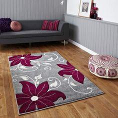 Teppich Lossett in Grau Brayden StudioBrayden Studio – Grey Carpet Red Rugs, Purple Rugs, Machine Made Rugs, Grey Carpet, Rugs Online, Modern Rugs, Woven Rug, Verona, Handmade Rugs