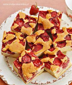 Polish Desserts, Polish Recipes, Polish Food, Baking Recipes, Cake Recipes, Dessert Recipes, Apple Pie Bars, Yummy Food, Tasty