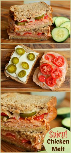 Spicy Chicken Melt Sandwich - An easy lunch or dinner idea! wearychef.com #sponsored