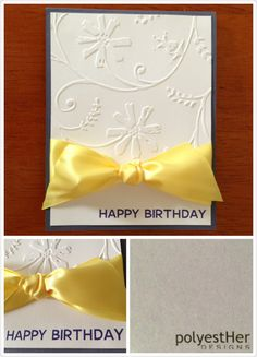 Yellow makes everyone smile! Add a POP of color to your birthday card. #birthday #card #yellow #color #polyestHerDESIGNS #polyestHerDZNS