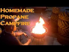 ▶ Propane Campfire Fire Pit stove Homemade - YouTube