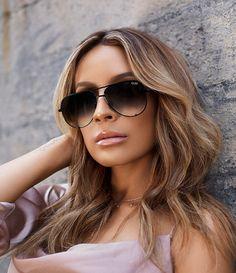 ada1e5c0ea9 Black Fade Quay X Desi High Key Mini Mirrored Aviator Sunglasses Quay  Sunglasses