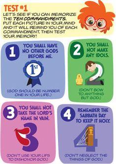 Memorization sticks-10 commandments