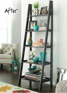 Genial Ladder Bookshelf U2013 U201cHome Library Ladder Shelfu201d (Diy Step Ladder).  Repurposed Ladder Decor Ideas ...