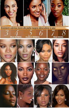 Maquiagem para pele negra. Como comprar os produtos corretamente.