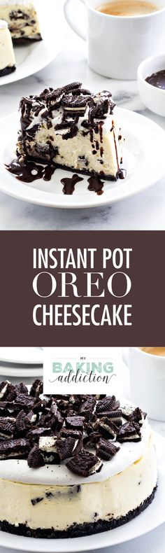 Instant Pot Oreo Cheesecake may be the easiest cheesecake you'll ever make. It's the perfect size for a small family too! You'll love this recipe.