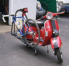 Vespa rack for bikes
