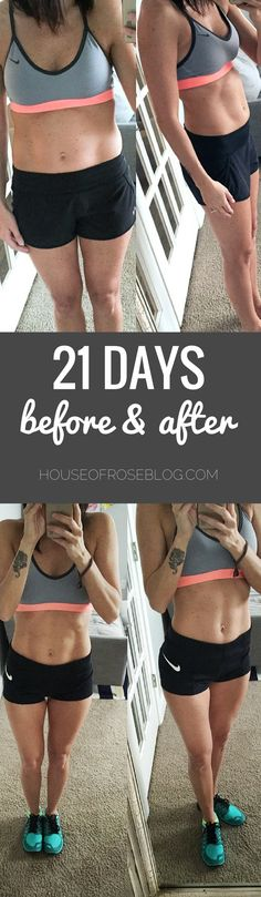 Before & After Pictures Fitness Challenge - 21 Day Fix Challenge by HouseofRoseblog.com
