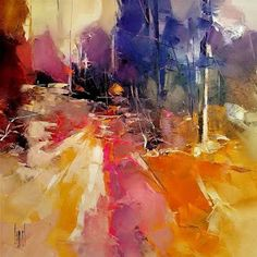 Por amor al arte: Hervé Lenouvel Acrylic Painting Inspiration, Herve, Art Abstrait, Love Art, Art Projects, Abstract Art, Amor, Beautiful Landscape Photography, Autumn Leaves