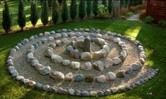 Things to Make and Do, Crafts and Activities for Kids - The Crafty Crow zen garden outdoor meditation area. You walk to the center and back, over and over again till your think your done. Prayer Garden, Meditation Garden, Meditation Space, Meditation Corner, Walking Meditation, Modern Garden Design, Garden Landscape Design, Modern Design, Outdoor Landscaping