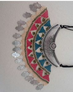 This Pin was discovered by Sal African Hats, Bohemian Jewelry, Unique Jewelry, Point Lace, Needle Lace, Handmade Art, Hand Embroidery, Cuff Bracelets, Diy And Crafts