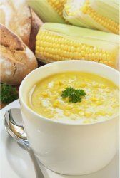 Fresh Corn Soup | This easy soup recipe really hits the spot! It'll go great with a salad or some breadsticks!