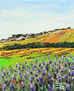 Buy Original Art by Lisa Elley | oil painting | Napa Valley Lavender at UGallery