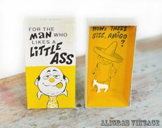 Vintage Gag Gift • Man Who Likes a Little Ass • Humor Funny • Jackass Donkey • 70s Franco-American • Sexual Innuendo • White Elephant ➳ Aligras Vintage on Etsy