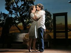 Kelli O'Hara and Steven Pasquale in The Bridges of Madison County. Photo Credit: Broadway.com.