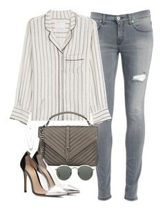 """""""Inspiration"""" by elisabetta-balzi ❤ liked on Polyvore featuring Dondup, Zadig & Voltaire, Yves Saint Laurent, Gianvito Rossi, Ray-Ban and Forever 21"""