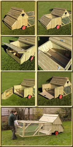 I love this chicken tractor-functional and beautiful!  My husband needs to build me one of these.