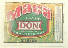 Don Maçã - Ribeirão Preto, SP, desde 1964 - com suco de maçã e aroma de baunilha