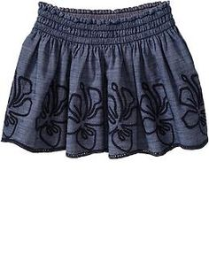 Embroidered Chambray Skirts for Baby | Old Navy