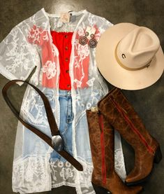 Cute Cowgirl Outfits, Western Outfits Women, Country Style Outfits, Southern Outfits, Rodeo Outfits, Western Wear For Women, Casual Dress Outfits, Hipster Outfits, Cute Outfits