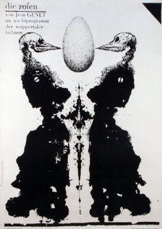 Franciszek Starowieyski. Die Zofen, Jean Genet, Theater Poster